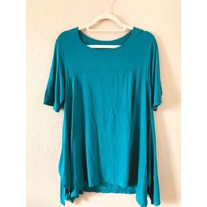 Tops - Turquoise Green Flowy Blouse